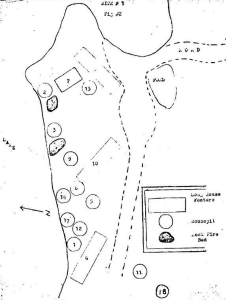 Locke's map of Indian Point features (1975).